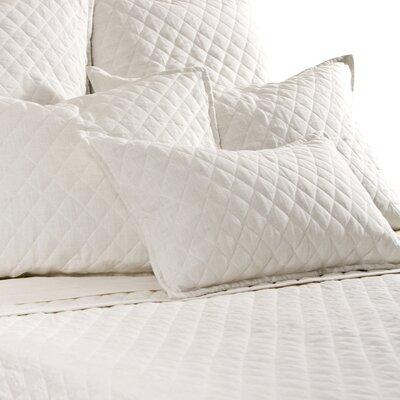 Hampton Sham Size: Standard, Color: Cream
