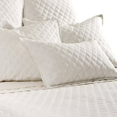 Hampton Linen Lumbar Pillow Color: Cream