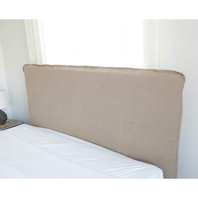Frayed Short Headboard Slipcover Size: 48 H x 62 W x 2 D, Upholstery: Natural