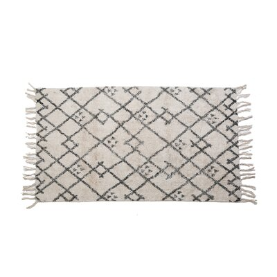 Gigi Hand Woven Cotton Ivory/Gray Area Rug