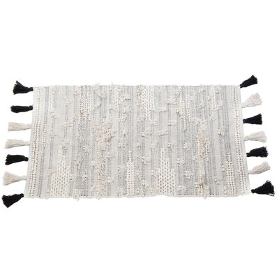 Quincy Hand Woven Ivory/Gray Area Rug Rug Size: Rectangle 2 x 3