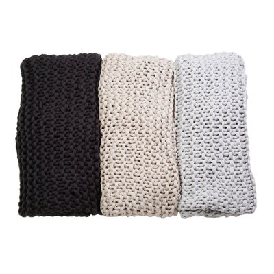 Finn Hand Knit Throw Color: Midnight