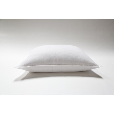 Montauk Linen Lumbar Pillow Color: Cream