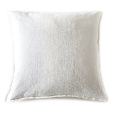 Montauk Linen Euro Pillow Color: Cream