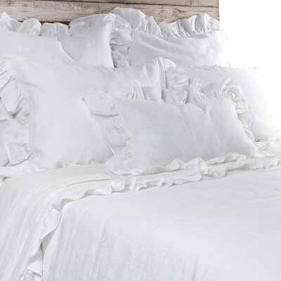 Charlie Linen Pillow Cover Color: Cream