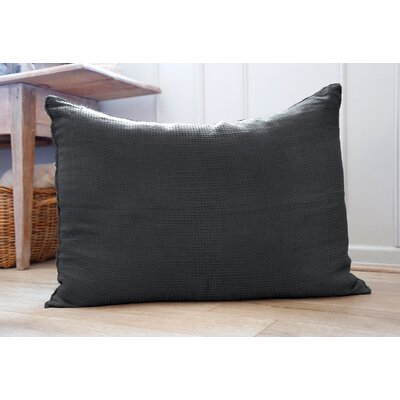 Venice Linen Throw Pillow Color: Midnight