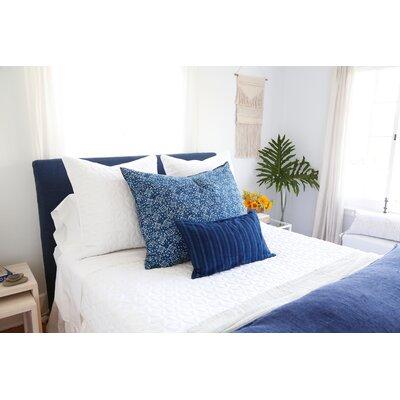 Box Cushion Headboard Slipcover Size: 64 H x 78 W x 2 D, Upholstery: Indigo