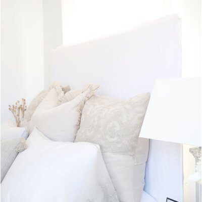Slipcovered Panel Headboard Size: Queen