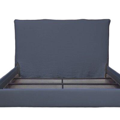 Frayed Short Headboard Slipcover Size: 48 H x 62 W x 2 D, Upholstery: Indigo