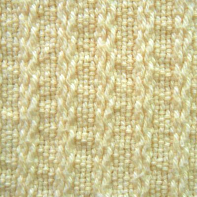 Cable Weave Preshrunk Cotton Blanket Color: Natural, Size: Queen