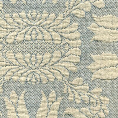 Colonial Rose Matelasse Bedspread Color: French Blue, Size: Queen