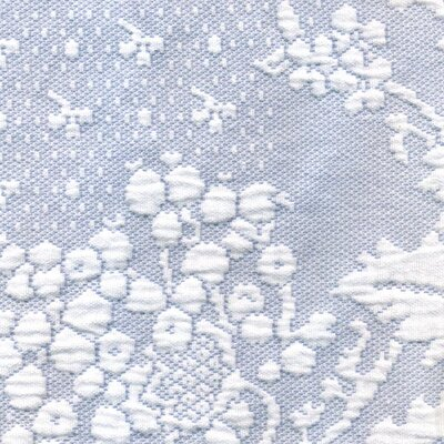 Colonial Rose Matelasse Bedspread Color: Wedgewood Blue, Size: Queen