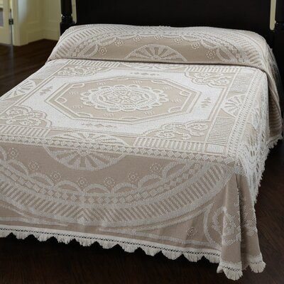 John Adams Bedspread Color: White, Size: Queen
