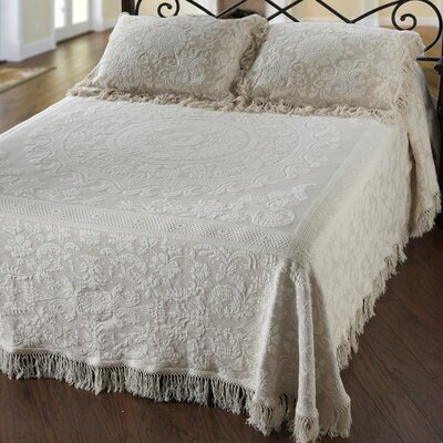 Elizabeth Matelasse Bedspread Size: Full, Color: Antique