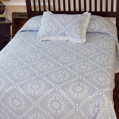 Americana  Matelasse Bedspread Color: Wedgewood Blue, Size: Full
