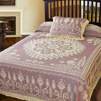 Spirit of America Bedspread Color: Maroon, Size: Full