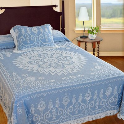Spirit of America Bedspread Color: Blue, Size: Full