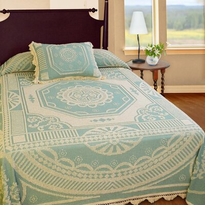 John Adams Bedspread Color: Sage, Size: Queen