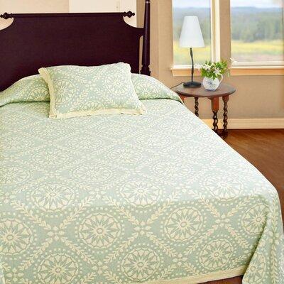 Americana  Matelasse Bedspread Color: Sage, Size: Queen