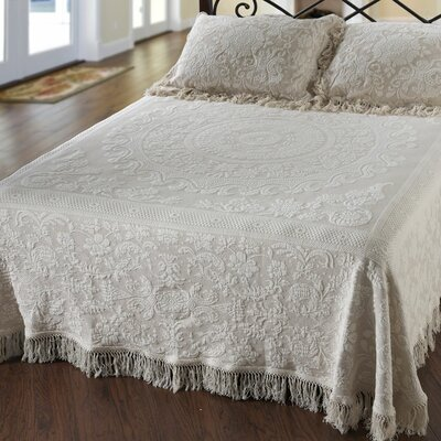 Maine Heritage Weavers Elizabeth Matelasse Bedspread - Size: Full, Color: White at Sears.com