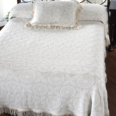 Heritage Bedspread Size: King, Color: White