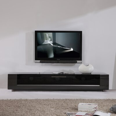 Editor Remix TV Stand Color: High Gloss Grey