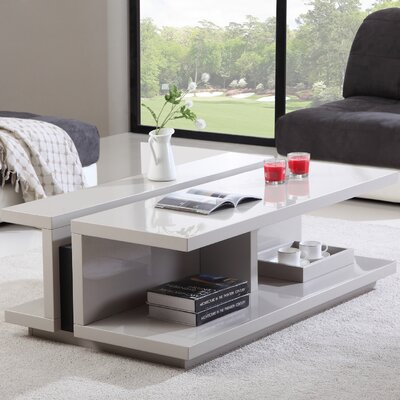 DJ Coffee Table Color: Cream