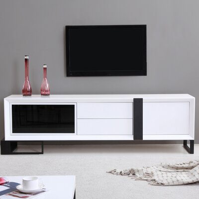 Entertainer 81.3 TV Stand Color: White