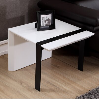 Director End Table Base Finish: Black