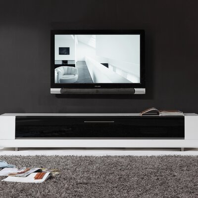 Editor Remix TV Stand Color: High Gloss White