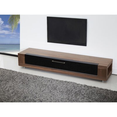 Editor Remix 79 TV Stand Color: Light Walnut