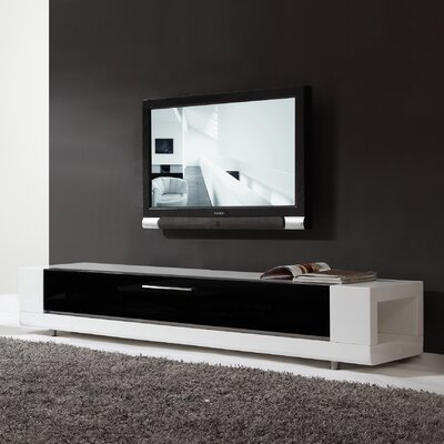 Editor Remix 79 TV Stand Color: High Gloss White