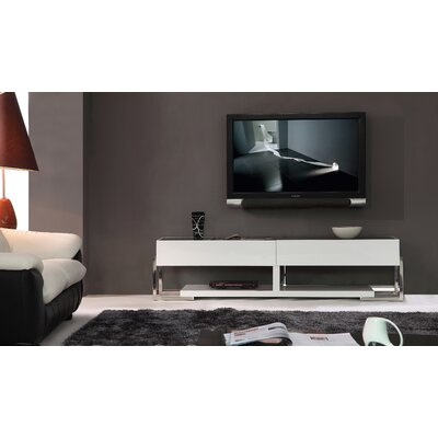 Agent 71 TV Stand Color: Black Glass