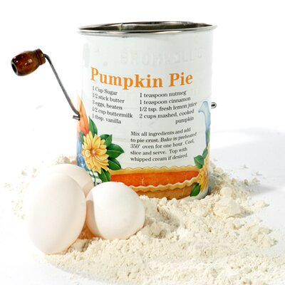 Pumpkin Pie 3-cup With 2-wire Crank Sifter