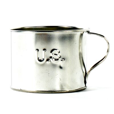Classic Handcrafted Tin Cup Size-large