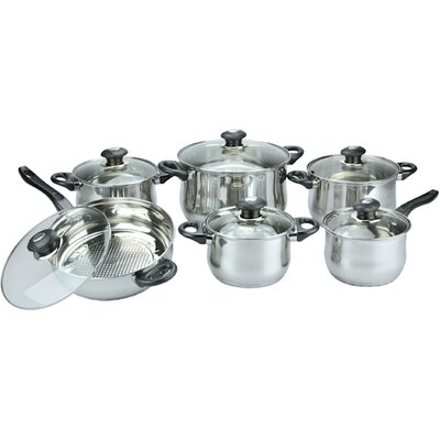 Vinaroz Vicenza Stainless Steel 12-Piece Cookware Set at Sears.com
