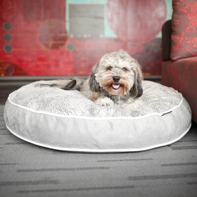Safari Savannah Round Pet Bed Size: Large (42 W x 42 D), Color: Ash Gray / Cool Gray