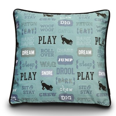 Dogs Life Play Dog Pillow Color: Powder Blue / Chocolate
