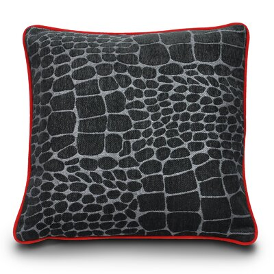 Kalahari Play Dog Pillow Color: Black Giraffe/Sangria