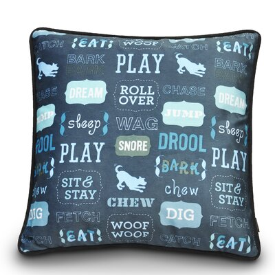 Dogs Life Play Dog Pillow Color: Sofa Blue / Ash Gray
