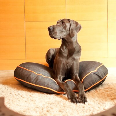 Signature Urban Denim Round Pet Duvet Cover Size: Small (27.5 W x 27.5 D)