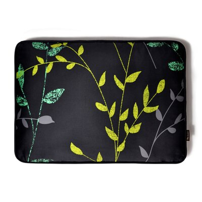 Backyard Greenery Rectangular Dog Pillow Size: Medium (36 L x 27 W), Color: Slate Grey / Dark Grey