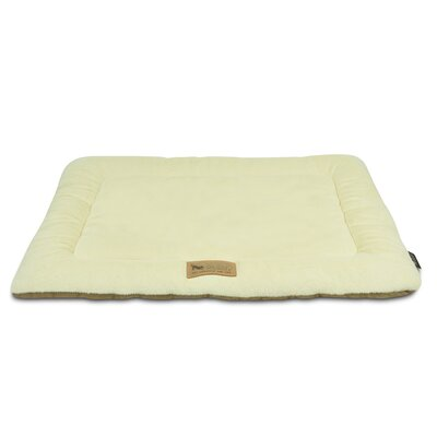 Chill Dog Pad Size: Small (24 W x 18 D), Color: Cream / Hazelnut