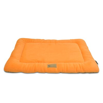 Chill Dog Pad Size: Small (24 W x 18 D), Color: Pumpkin / Hazelnut