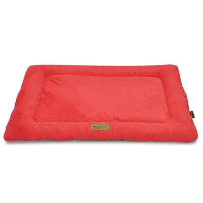 Chill Dog Pad Size: Medium (30 W x 20 D), Color: Vermillion / Hazelnut
