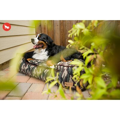 Original Camouflage Lounge Dog Sofa Size: Medium (31 L x 25 W), Color: Army Green / Chocolate