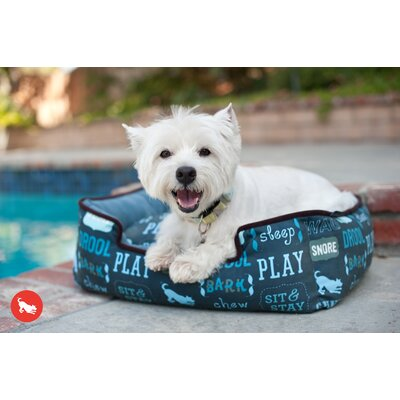 Philo Dogs Life Lounge Pet Sofa Size: Large (38 L x 30 W), Color: Sofa Blue / Ash Gray