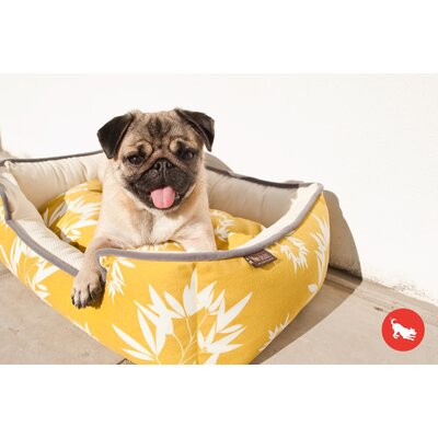 Artist Bamboo Lounge Pet Bed Color: Mustard / Pebble Gray, Size: Large (38 L x 30 W)