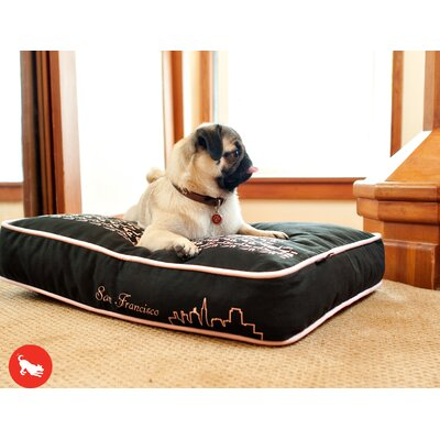 Cosmopolitan SFyline Rectangular Dog Pillow Size: Medium (36 L x 27 W)