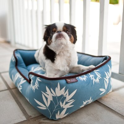 Artist Bamboo Lounge Pet Bed Color: Ocean Blue / Ash Gray, Size: Large (38 L x 30 W)